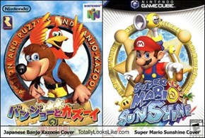 Japanese Banjo Kazooie Cover Totally Looks Like Super Mario Sunshine Cover