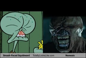 Smash-Faced Squidward Totally Looks Like Nemesis
