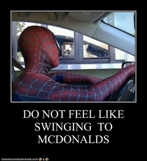 DO NOT FEEL LIKE SWINGING  TO MCDONALDS