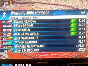 Yes, She's a Hurdler