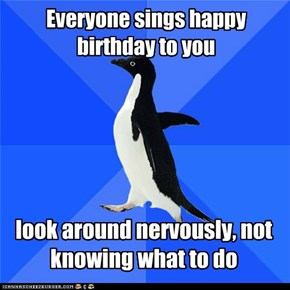 Everyone sings happy birthday to you