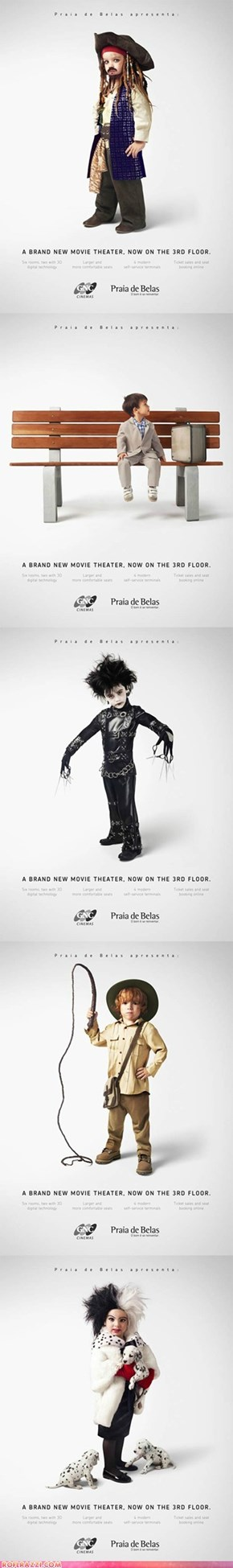 Children as Famous Film Characters