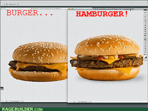 THE DIFFERENCE BETWEEN BURGERS AND HAMBURGERS!