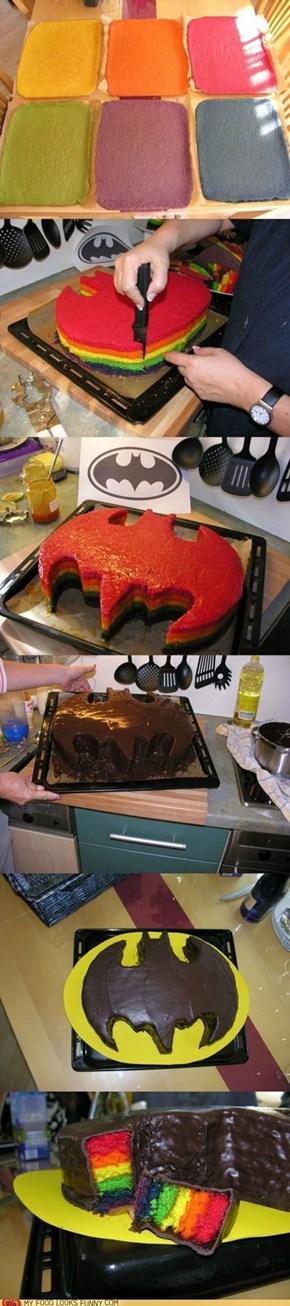 Rainbow Batcake