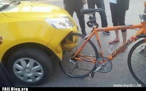 Chinese Car Meets German Bicycle FAIL