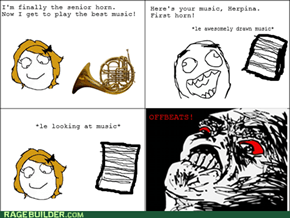 The Hornist's Struggle