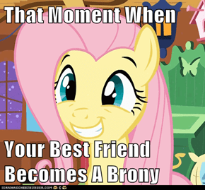 That Moment When  Your Best Friend Becomes A Brony