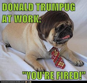 "DONALD TRUMPUG AT WORK:  ""YOU'RE FIRED!"""