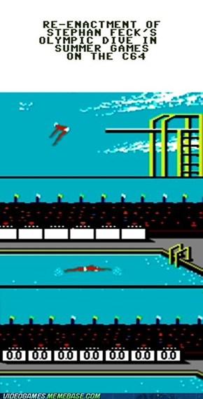 Re-enacting Stephan Feck's Olympic backflop in Summer Games