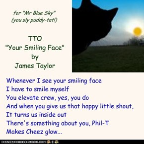 """Nothing But Blue Skies"" (TTO ""Your Smiling Face"" by James Taylor)"