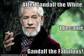 After Gandalf the White, I became Gandalf the Fabulous!