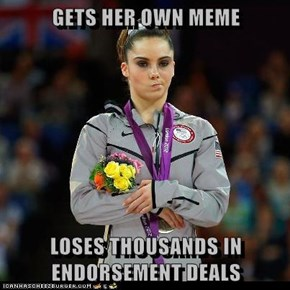 GETS HER OWN MEME  LOSES THOUSANDS IN ENDORSEMENT DEALS