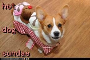 hot  dog sundae