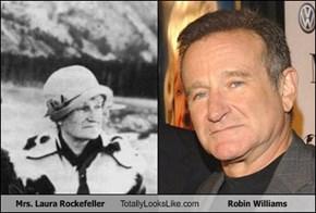 Mrs. Laura Rockefeller Totally Looks Like Robin Williams