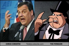 CHRIS CHRISTIE Totally Looks Like THE PENGUIN