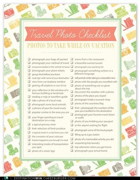 The Travel Photo Checklist