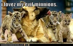 i lovez my evil minnions.