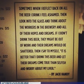 Drinking is Just Job Creation At Its Finest