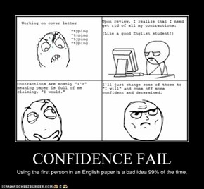CONFIDENCE FAIL