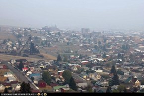 Butte Montana--9/10/12--Smoke from fires in Idaho and Montana obscure the view and make it unhealthy to be outdoors.