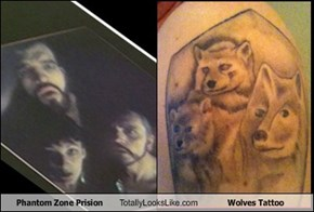 Phantom Zone Prision Totally Looks Like Wolves Tattoo