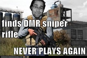 finds DMR sniper rifle NEVER PLAYS AGAIN