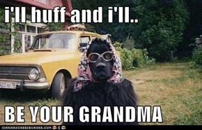 i'll huff and i'll..  BE YOUR GRANDMA