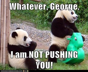 Whatever, George,  I am NOT PUSHING YOU!