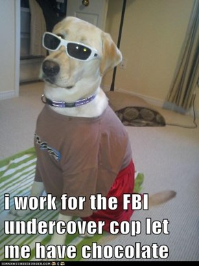 i work for the FBI undercover cop let me have chocolate