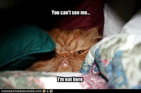 You can't see me...