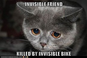 INVISIBLE FRIEND  KILLED BY INVISIBLE BIKE