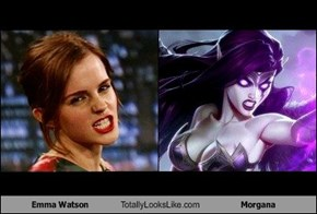 Emma Watson Totally Looks Like Morgana