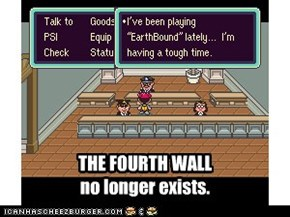 THE FOURTH WALL no longer exists.