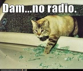 Dam...no radio.