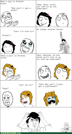 Forever Alone Guys vs. Girls