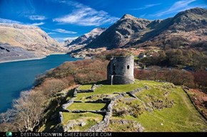 Hold the Fort at Dolbadarn Castle, Wales.
