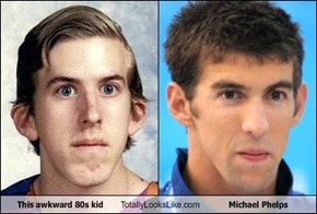 This awkward 80s kid Totally Looks Like Michael Phelps
