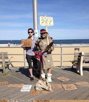 homeless sign guy win