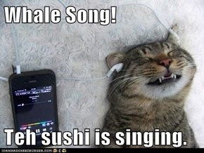 Whale Song!  Teh sushi is singing.