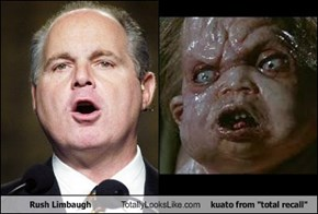 "Rush Limbaugh  Totally Looks Like kuato from ""total recall"""