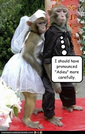 "I should have pronounced ""Adieu"" more carefully."