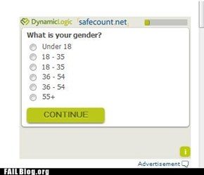 Gender Ain't Nothin' But a Number FAIL