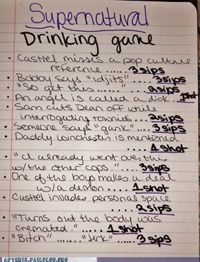 Supernatural, the Drinking Game!