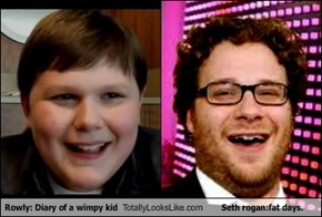 Rowly: Diary of a wimpy kid Totally Looks Like Seth rogan:fat days.