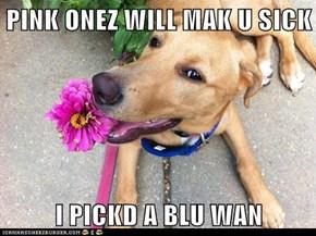 PINK ONEZ WILL MAK U SICK  I PICKD A BLU WAN
