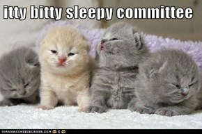 itty bitty sleepy committee
