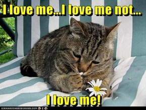 I love me...I love me not...  I love me!
