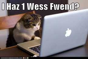 I Haz 1 Wess Fwend?