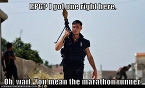 RPG? I got one right here.  Oh, wait. You mean the marathon runner.