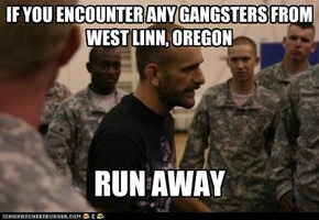 IF YOU ENCOUNTER ANY GANGSTERS FROM WEST LINN, OREGON